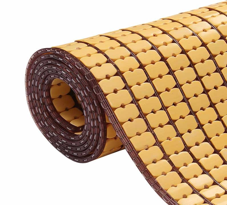 Chiếu trúc hạt nhỏ không viền màu vàng Size: 0.8mx1m9