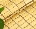 Chiếu trúc hạt nhỏ không viền màu vàng Size: 1mx1m9