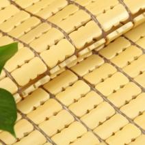Chiếu trúc hạt nhỏ không viền màu vàng Size: 1m8x2m