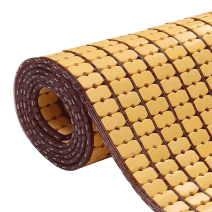 Chiếu trúc hạt to không viền màu vàng Size: 1mx1m9