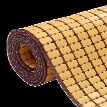 Chiếu trúc hạt nhỏ không viền màu vàng Size: 1m6x1m9