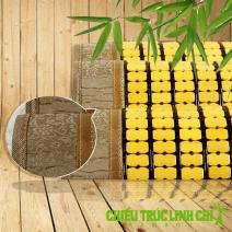 Chiếu trúc hạt nhỏ có viền màu vàng Size 1mx1m9