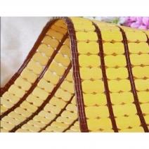 Chiếu trúc hạt to màu vàng không viền Size: 1m6x1m9